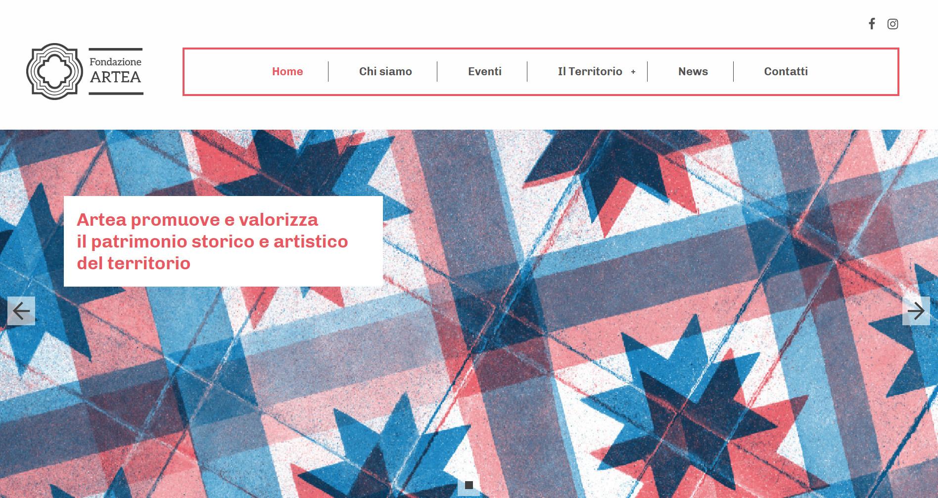 Progettazione e sviluppo sito web fondazione artea